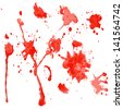 red watercolor blots on a white background (vector version in portfolio) - stock