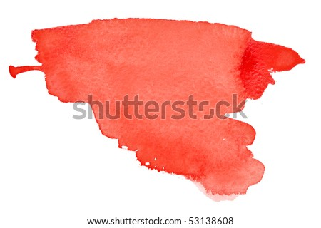 Red watercolor brush strokes with space for your own text - stock photo