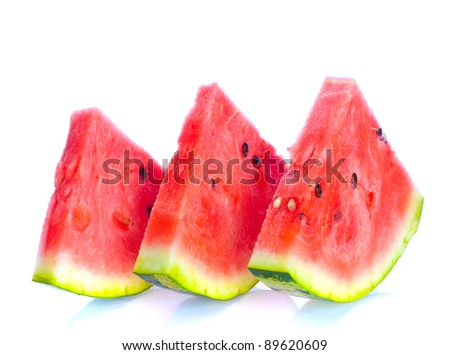 red watermelon - stock photo