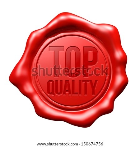 Red Wax Seal : Top Quality - stock photo
