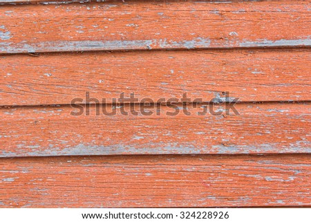 red weathered wood background - stock photo