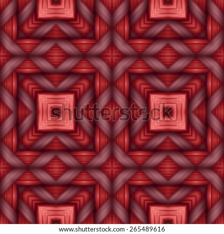 red weaving wood  texture  ornament pattern - stock photo