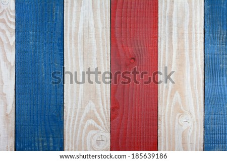 Red White and Blue Boards Background. Patriotic Background for 4th of July or Memorial Day projects. - stock photo
