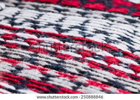 Red, white and blue wool background