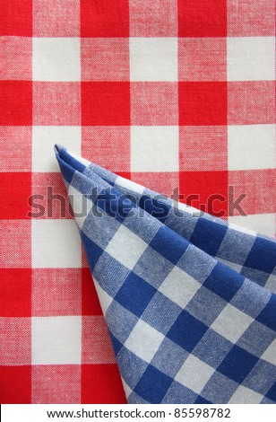 red white blue checkered fabric