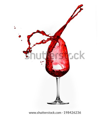 Red Wine Abstract Splashing