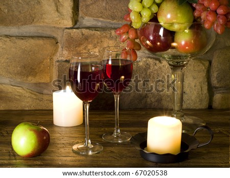 Red wine and fruit composition