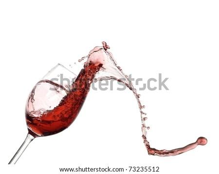 Red wine frizzle splash - stock photo