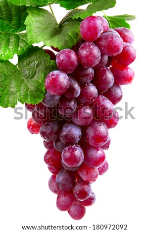 red wine grape, isolated  - stock photo