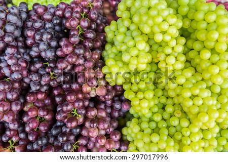 Red wine grapes on the market - stock photo