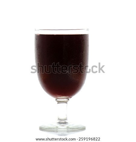 Red Wine in glass isolated on white background - stock photo