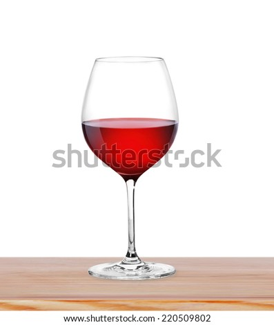 Red Wine in glass on light background  - stock photo
