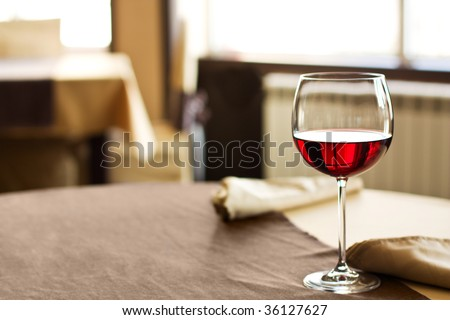 Red Wine on table - stock photo