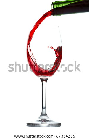 Red wine splash - stock photo