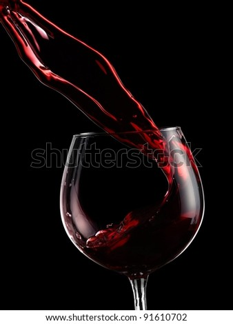 Red wine up - stock photo