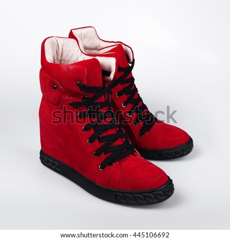 Red Winter sneakers