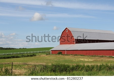 red wisconsin dairy barn