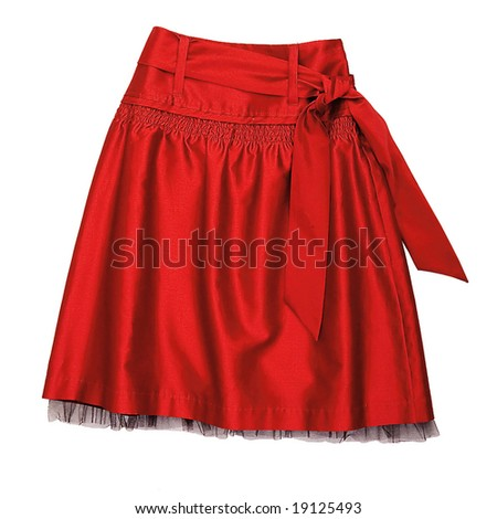 red woman fashion skirt
