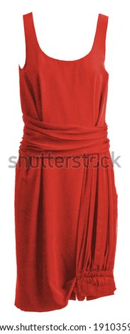red woman fashion summer dress