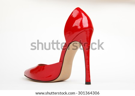 red women shoes