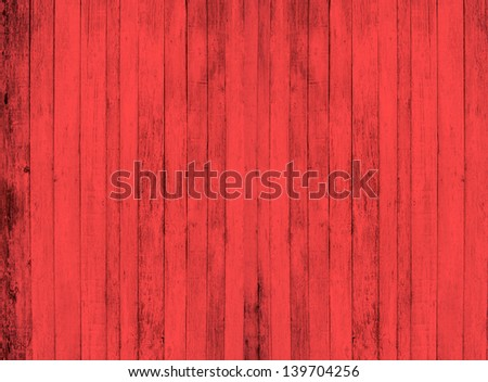 Red wood background - stock photo