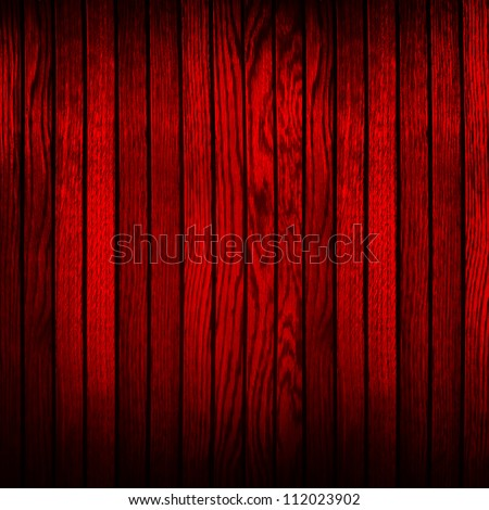 red wood plank - stock photo