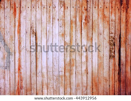 Red wood texture. Background old panels. - stock photo