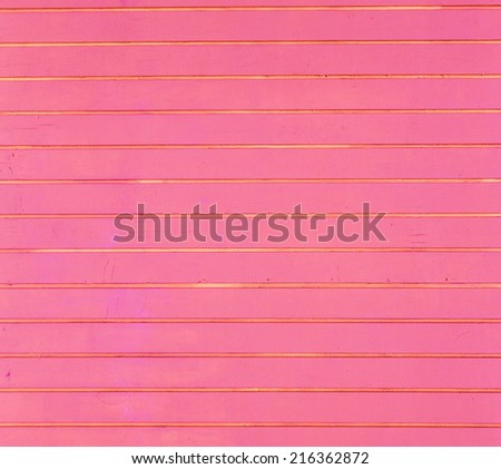 red wooden background of beach huts in Miami - stock photo