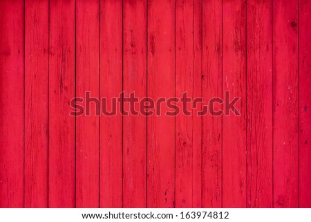Red Wooden Boards Background Texture - stock photo