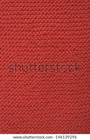 red wool - stock photo