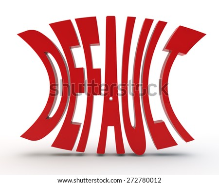 "red word ""default"" on a white background - stock photo"