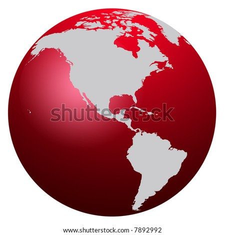 Red world map globe icon stock illustration 7892992 shutterstock red world map globe icon gumiabroncs Gallery