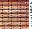 Red yellow beige tan fine brick wall texture background, large - stock photo