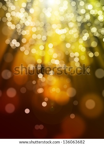 Red yellow bokeh abstract light background - stock photo