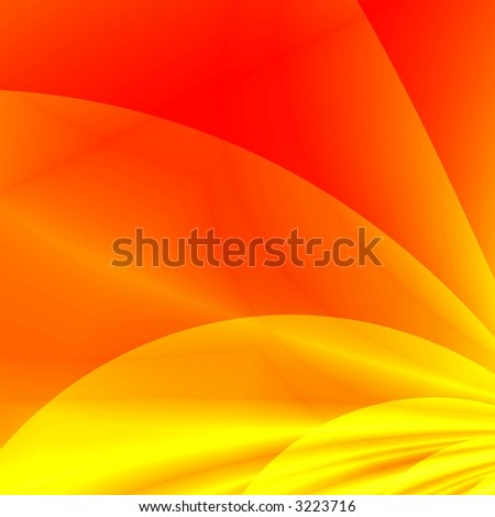 Red-yellow fantasy background - stock photo