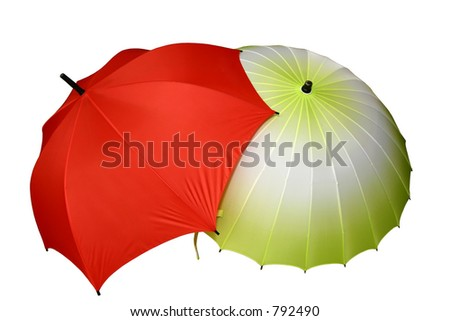 red & yellow umbrella