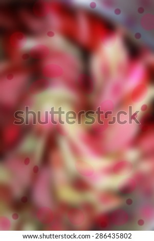 Reddish fanned splashes - abstract bokeh - stock photo