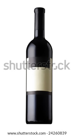 Redwine Boottle isolated - stock photo