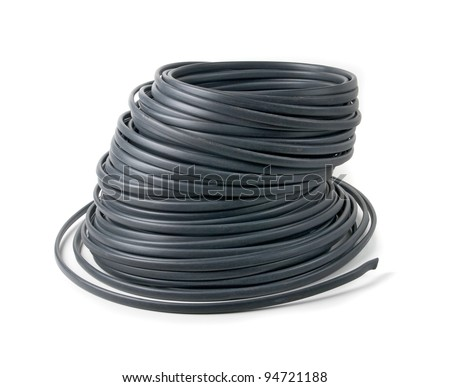 reel of wire Clipping path. - stock photo