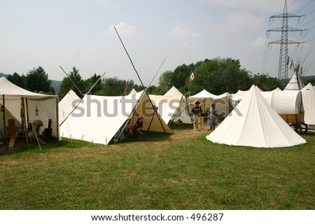 Reenactment Native American Camp