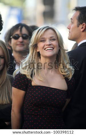Reese Witherspoon at Reese Witherspoon's induction into the  Hollywood Walk of Fame, Hollywood, CA. 12-01-10