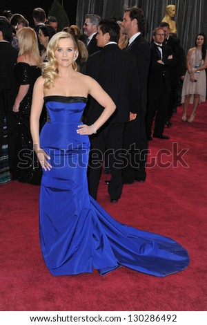 Reese Witherspoon at the 85th Academy Awards at the Dolby Theatre, Hollywood. February 24, 2013  Los Angeles, CA Picture: Paul Smith - stock photo