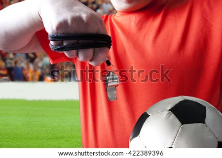 Referee. - stock photo