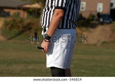 Referee give play count - stock photo