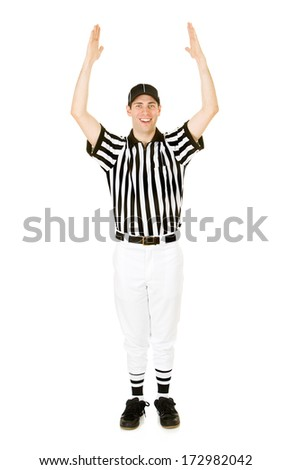Referee: Man Gives Signal For Touchdown