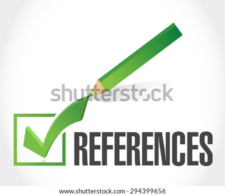 references check mark sign concept illustration design graphic - stock photo