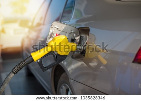Refill and filling Oil Gas Fuel at station.