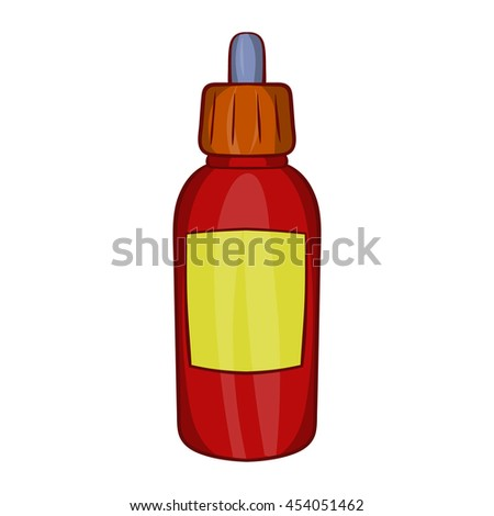 Refill bottle with pipette icon in cartoon style on a white background