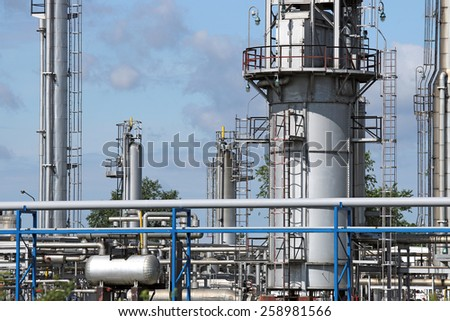 refinery and pipelines industry zone - stock photo