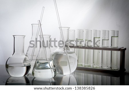 Refinery Laboratory Lab Tube in white background - stock photo